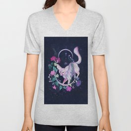 Cosmic Fox Unisex V-Neck