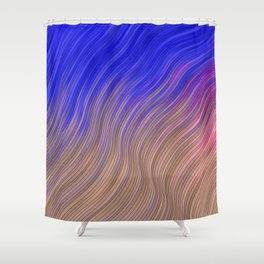 stripes wave pattern 2 with lines vmagi Shower Curtain