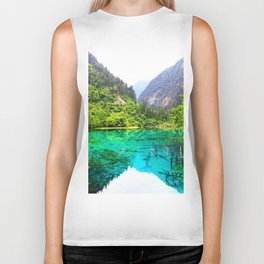 ANCIENT GLORY // Five Flower Lake, Jiuzhaigou Biker Tank