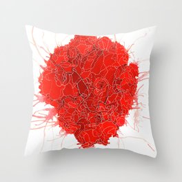 An Open Heart Throw Pillow