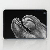 sloth iPad Cases featuring Sloth by Tim Jeffs Art