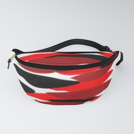 red black purple clouds pattern Fanny Pack