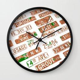 Car plates Wall Clock