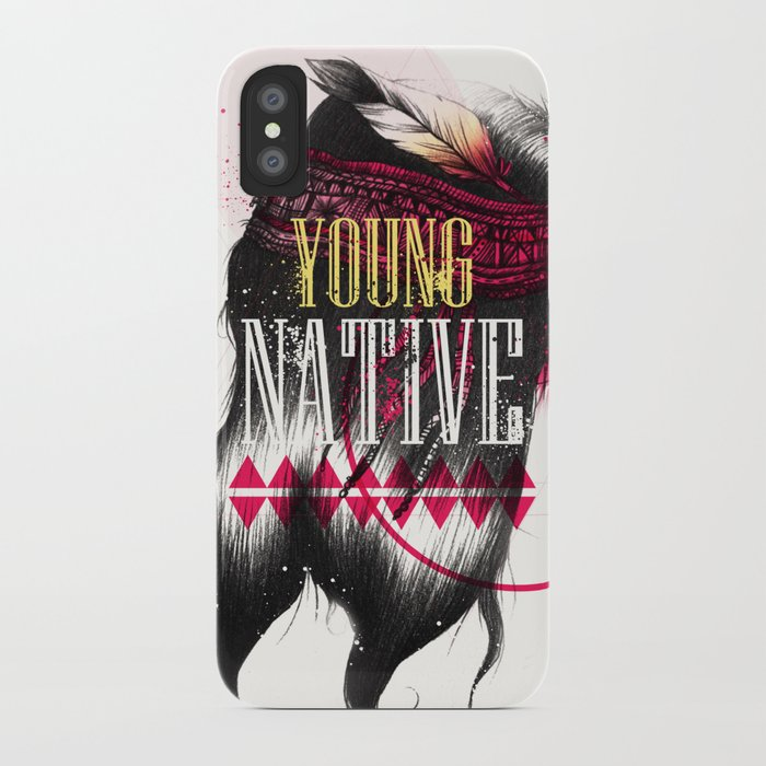Young Native iPhone Case