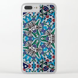 Distorted Pattern Clear iPhone Case