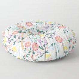 Morning Snowdrop Floor Pillow