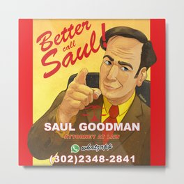Better Call Saul Print Metal Print