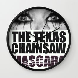 The Texas Chainsaw Mascara Wall Clock