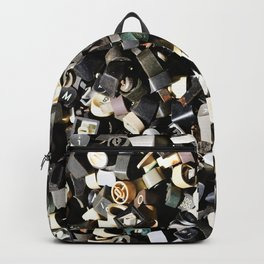 Letter Buttons Backpack