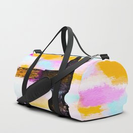 hammer with colorful painting abstract background in pink orange blue Duffle Bag