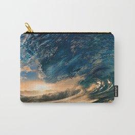 Beach - Waves - Ocean - Sun - Clouds - Blues - Sundown Carry-All Pouch