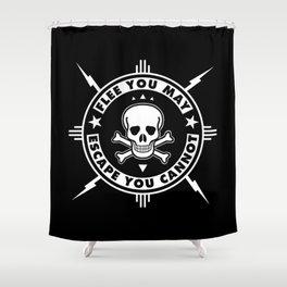FLEE...(HARDCORE VERSION) Shower Curtain