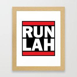 Run Lah Framed Art Print