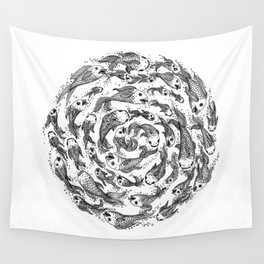 swimming in circles Wall Tapestry