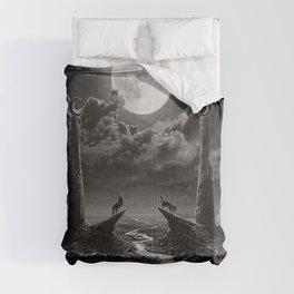 XVIII. The Moon Tarot Card Illustration Comforters