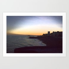Seafront sunset Art Print