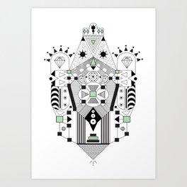 Vector Inca Art Print