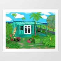 BeachHut Art Print