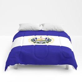 El Salvador flag emblem Comforters