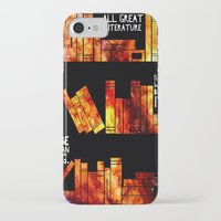 literature iPhone & iPod Cases featuring all great literature by cipollakate