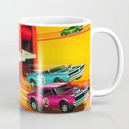 Vintage Hot Wheels Redline Dual-Lane Rod Runner Racing Poster Trade Print Coffee Mug