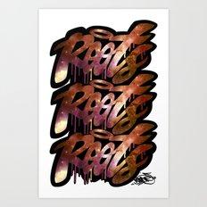 Roots (fat tag) Art Print