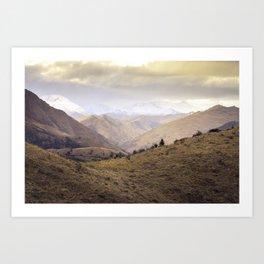 Queenstown Hill - New Zealand Art Print
