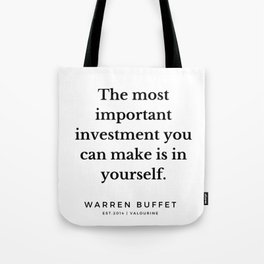 52   | Warren Buffett Quotes | 190823 Tote Bag
