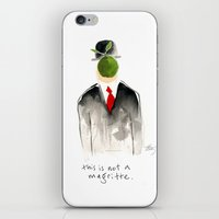 magritte iPhone & iPod Skins featuring this is not a magritte by berg with ice