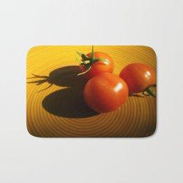 Abstract Tomato Bath Mat