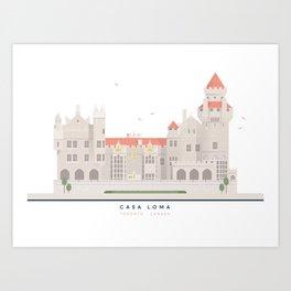 Casa Loma | Icon-O-Tecture Art Print