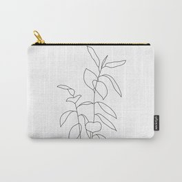 Plant one line drawing illustration - Ellie Carry-All Pouch