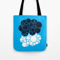 the fault in our stars Tote Bags featuring The Fault In Our Stars by karifree