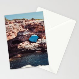 Island, Ocean, Holiday, Coast, Spain, Water, Waves, Sunshine, Surfer Stationery Cards
