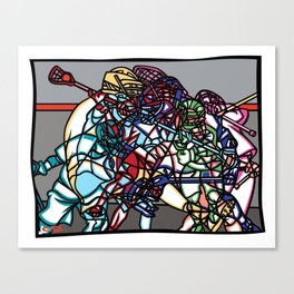 LAX Scramble Canvas Print