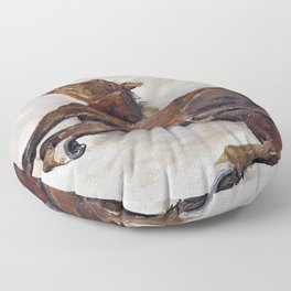 Otto Bache - Horse lying on the ground - Digital Remastered Edition Floor Pillow