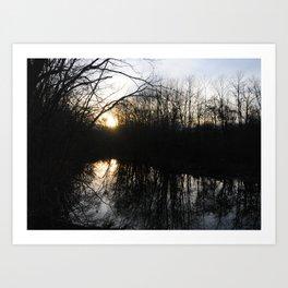 Reflections on Sunset Art Print