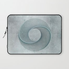 Geometrical Line Art Circle Distressed Teal Laptop Sleeve