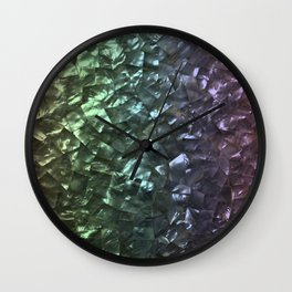 Natural Shimmering Mother of Pearl Nacre Wall Clock