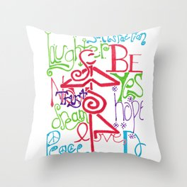 Mother Universe Love, Laugh, and Dream Throw Pillow