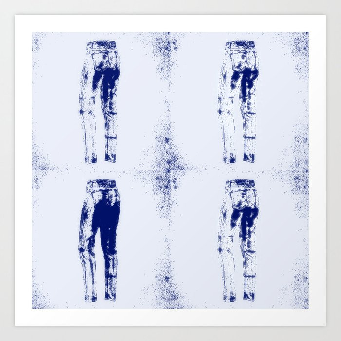 Delft blue jeans art print