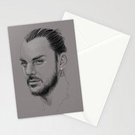 Shannon Leto digital Portrait grey LLFD Stationery Cards