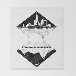 City by the Mountains Throw Blanket