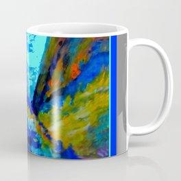 Western Golden Aspens Blue Mountain Landscape Art Coffee Mug