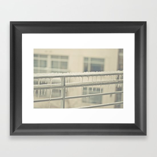 Warmth of Icicles Framed Art Print