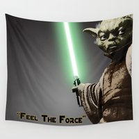 yoda Wall Tapestries featuring Yoda by KL Design Solutions