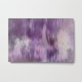 Purple Fusion Illustration Digital Camo Watercolor Blend Fluid Art Metal Print