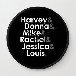 Suits - The Cast Wall Clock