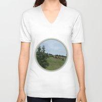elk V-neck T-shirts featuring Elk by Kaitlind Marek