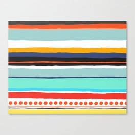 Pop Dot Line Canvas Print